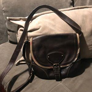 Vintage Burberry saddle crossbody bag